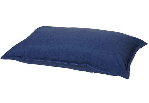 Woef Woef Hondenkussen Comfort | Panama Safier Blue | 70x100cm