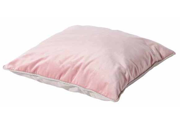 Madison Sierkussen | Velvet Pink / Panama Linnen | 45x45cm