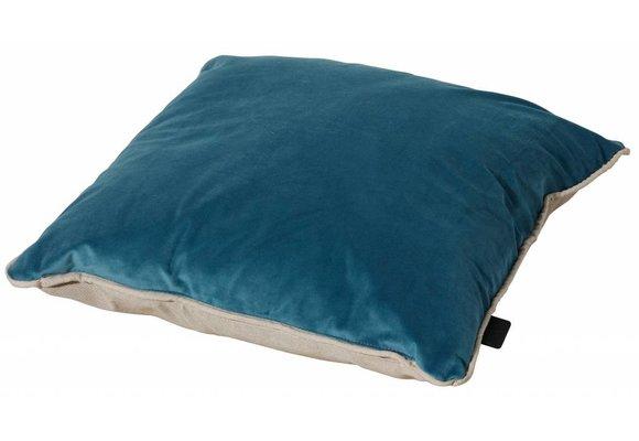 Madison Sierkussen | Velvet Blue / Panama Linnen | 45x45cm