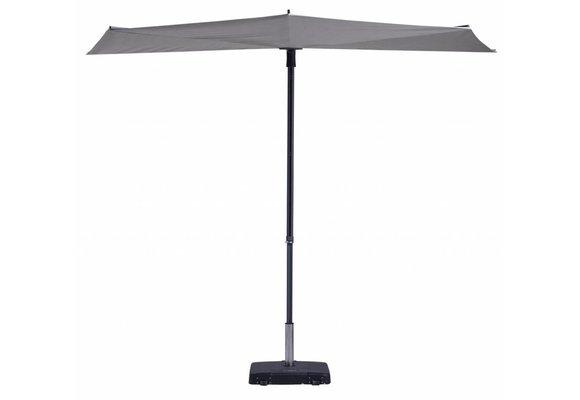 Madison Parasol | Sun Wave | Light Grey | 270x150cm