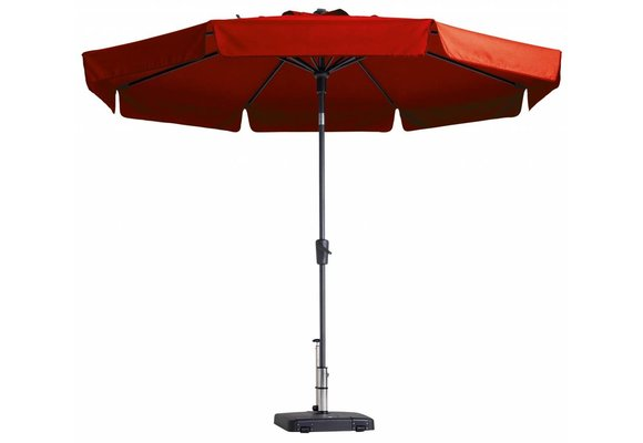 Madison Parasol | Flores Luxe | Brick Red | ∅300cm
