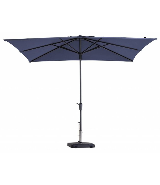 Madison Madison Parasol | Syros Luxe Square | Safier Blue | 280x280cm