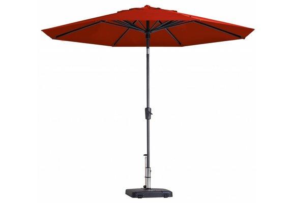 Madison Parasol | Paros Luxe Round | Brick Red | ∅300cm