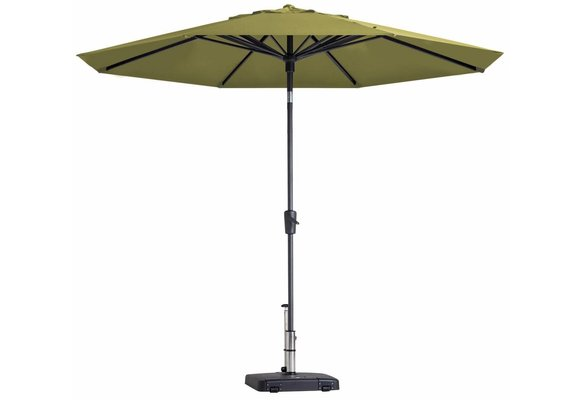 Madison Parasol   Paros Luxe Round   Sage Green   ∅300cm