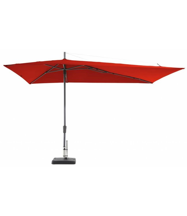 Madison Madison Parasol | Asymetric Sideway | Brick Red | 220x360cm