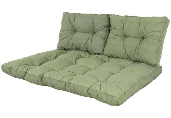 Madison Florance palletkussen set | Basic Green | ca. 120x80cm + rugkussens