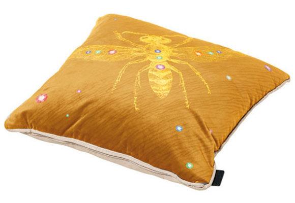 Madison Sierkussen | Velvet Insect Yellow | 45x45cm