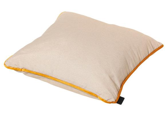 Madison Sierkussen   Velvet Yellow Piping   45x45cm