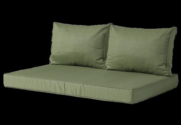 Madison Lounge palletkussen set | Basic Green | 120x80cm + rugkussens