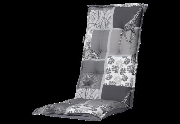 Madison Tuinstoelkussen Hoog | Sifra Grey | 123x50cm