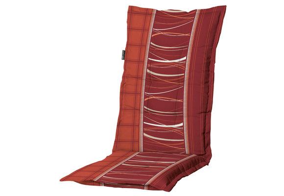 Madison Tuinstoelkussen Hoog | Lines Brick | 123x50cm