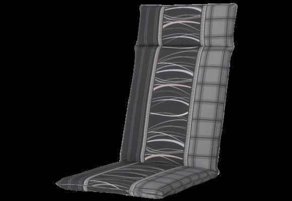 Madison Tuinstoelkussen Universeel Hoog   Lines Grey   120x50cm