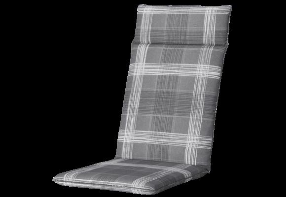 Madison Tuinstoelkussen Universeel Hoog | Simon Grey | 120x50cm