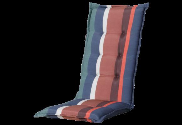 Madison Tuinstoelkussen Hoog | Stripe Blue | 123x50cm