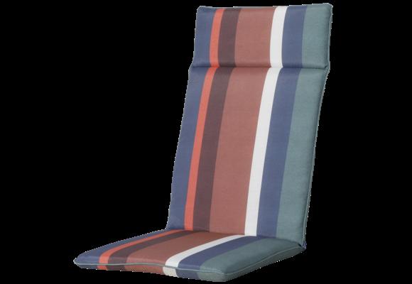 Madison Tuinstoelkussen Universeel Hoog   Stripe Blue   120x50cm