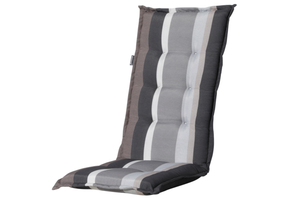 Madison Tuinstoelkussen Hoog | Stripe Grey | 123x50cm