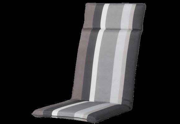 Madison Tuinstoelkussen Universeel Hoog | Stripe Grey | 120x50cm