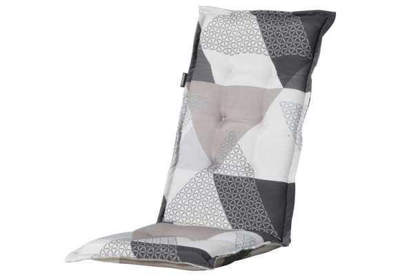 Madison Tuinstoelkussen Hoog | Triangle Grey | 123x50cm