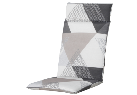 Madison Tuinstoelkussen Universeel Hoog | Triangle Grey | 120x50cm