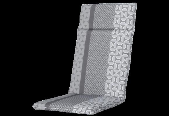 Madison Tuinstoelkussen Universeel Hoog | Pasa Grey | 120x50cm
