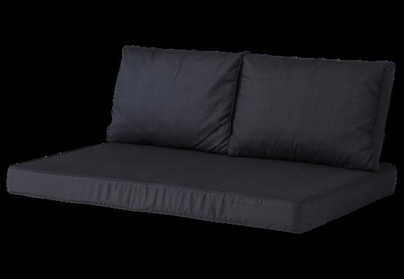 Madison Lounge palletkussen set | Basic Black | 120x80cm + rugkussens