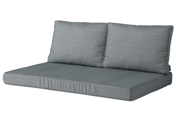 Madison Lounge palletkussen set | Basic Grey | 120x80cm + rugkussens