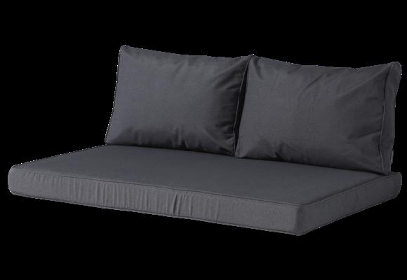 Madison Lounge palletkussen set | Panama Grey | 120x80cm + rugkussens