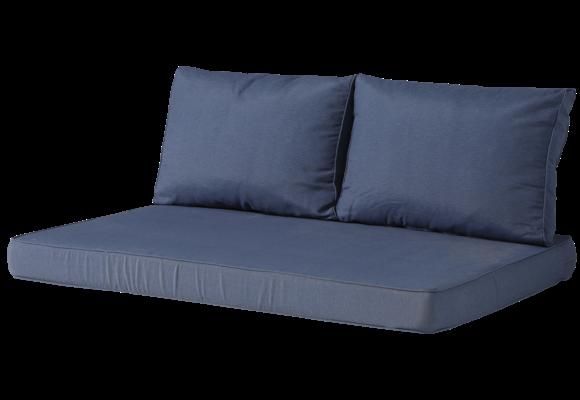 Madison Lounge palletkussen set | Panama Safier Blue | 120x80cm + rugkussens