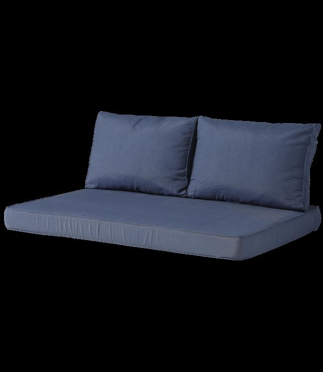 Madison Madison Lounge palletkussen set   Panama Safier Blue   120x80cm + rugkussens