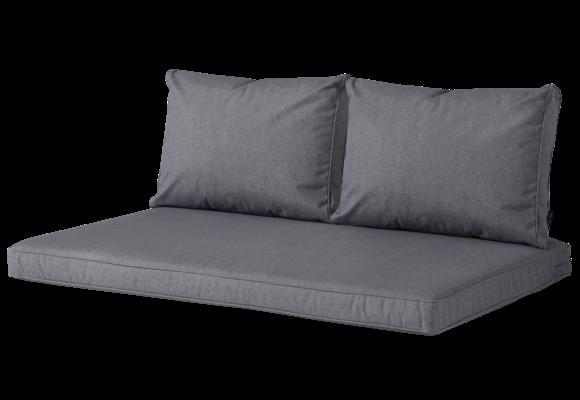 Madison Lounge palletkussen set | Outdoor Oxford Grey | 120x80cm + rugkussens