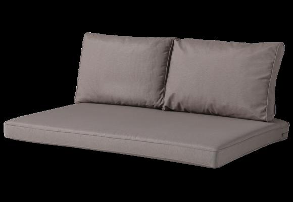 Madison Lounge palletkussen set | Outdoor Panama Taupe | 120x80cm + rugkussens