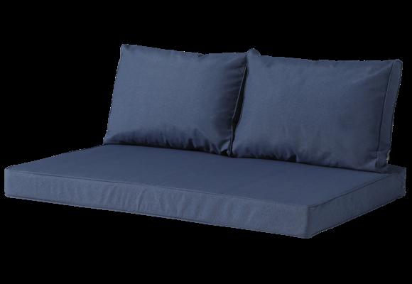 Madison Lounge palletkussen set | Outdoor Panama Safier Blue | 120x80cm + rugkussens