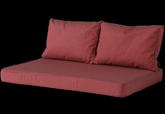 Madison Lounge palletkussen set | Outdoor Manchester Red | 120x80cm + rugkussens
