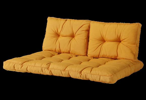 Madison Florance palletkussen set | Panama Golden Glow | ca. 120x80cm + rugkussens