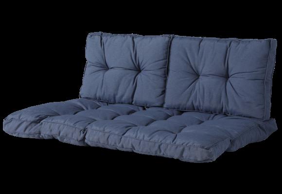 Madison Florance palletkussen set | Panama Safier Blue | ca. 120x80cm + rugkussens