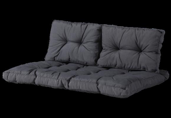 Madison Florance palletkussen set | Panama Grey | ca. 120x80cm + rugkussens