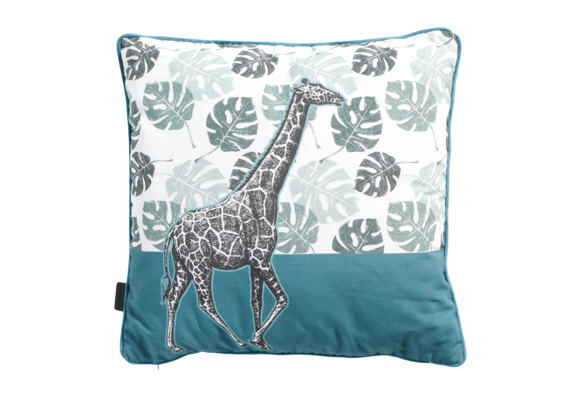 Madison Sierkussen   Giraffe Sea Blue   50x50cm