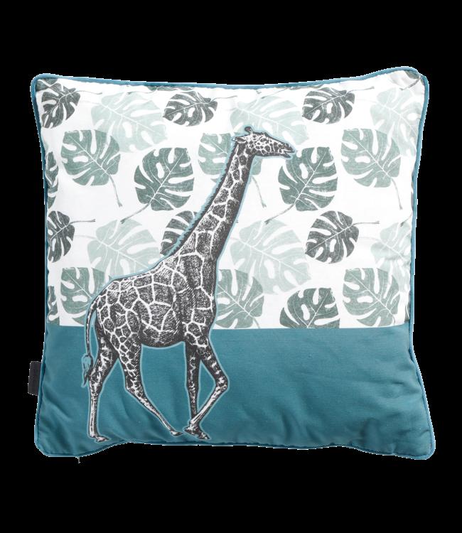 Madison Madison Sierkussen   Giraffe Sea Blue   50x50cm