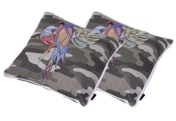 Madison Sierkussen set | Camouflage Embroidery | 50x50cm