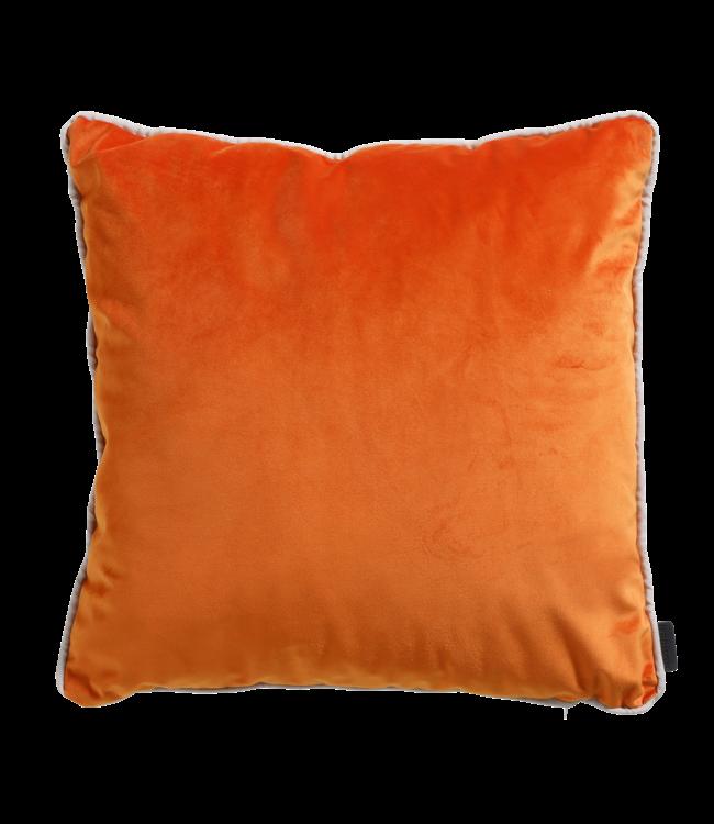 Madison Madison Sierkussen   Panama Linnen / Velvet Orange   45x45cm