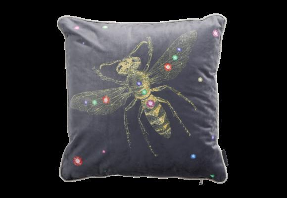 Madison Sierkussen | Velvet Insect Grey | 45x45cm