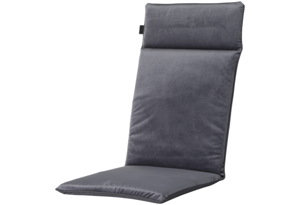 Madison Tuinstoelkussen Uni. hoog | Outdoor Velvet Grey | 120x50cm