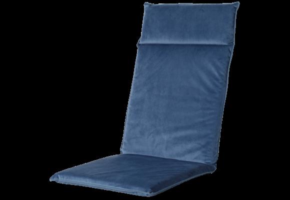 Madison Tuinstoelkussen Uni. hoog | Outdoor Velvet Blue | 120x50cm