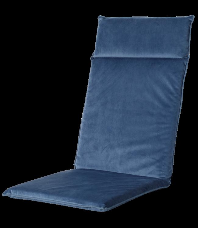 Madison Madison Tuinstoelkussen Uni. hoog | Outdoor Velvet Blue | 120x50cm