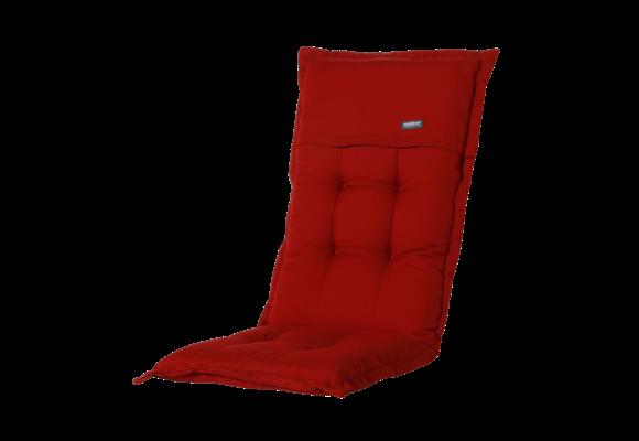 Madison Tuinstoelkussen hoog | Rib Red | 123x50cm