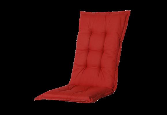 Madison Tuinstoelkussen hoog | Basic Red | 123x50cm