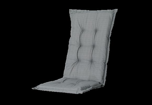 Madison Tuinstoelkussen hoog | Basic Grey | 123x50cm