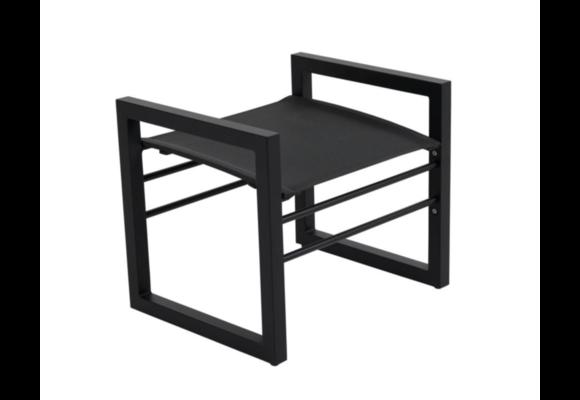 Hocker Vevi   Black   Aluminium & Textileen   Brafab