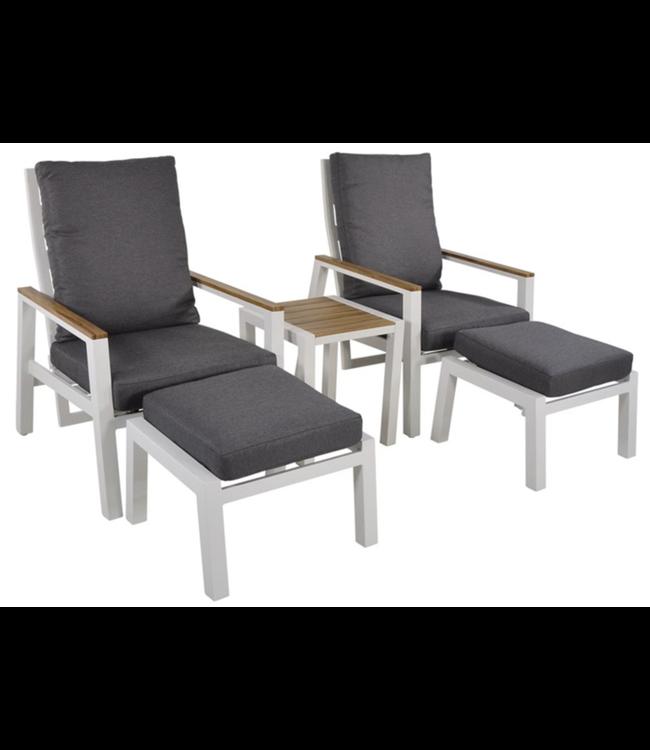 Lesli Living Duo Loungeset Coda | Wit | Aluminium | Lesli Living
