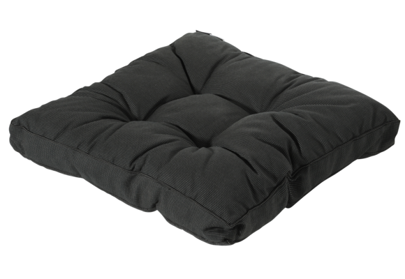 Madison Florance Loungekussen | Rib Black | ca. 60x60cm